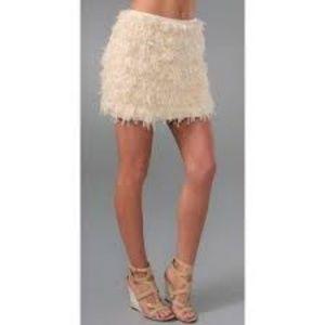 NWT Diane Von Furstenberg Ivory Chiffon Mini Skirt